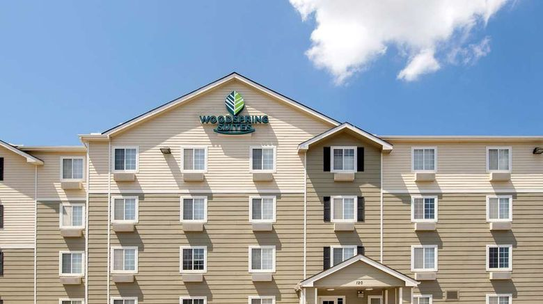"""WoodSpring Suites Huntsville/Madison Exterior. Images powered by <a href=""""http://web.iceportal.com"""" target=""""_blank"""" rel=""""noopener"""">Ice Portal</a>."""