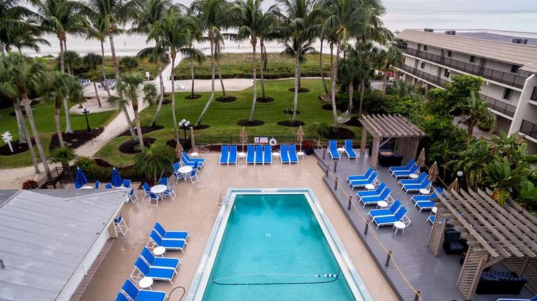 """Sanibel Island Beach Resort Exterior. Images powered by <a href=""""http://web.iceportal.com"""" target=""""_blank"""" rel=""""noopener"""">Ice Portal</a>."""