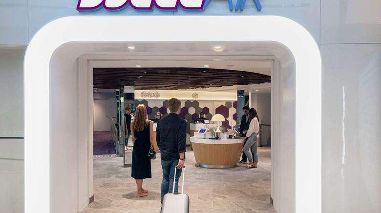 """YOTELAIR Singapore Changi Airport Exterior. Images powered by <a href=""""http://web.iceportal.com"""" target=""""_blank"""" rel=""""noopener"""">Ice Portal</a>."""