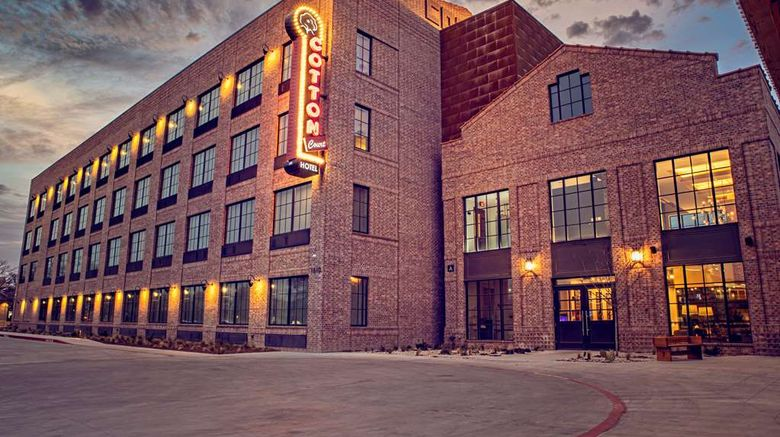 """Cotton Court Hotel Exterior. Images powered by <a href=""""http://web.iceportal.com"""" target=""""_blank"""" rel=""""noopener"""">Ice Portal</a>."""