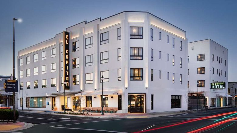 """El Capitan Hotel Exterior. Images powered by <a href=""""http://web.iceportal.com"""" target=""""_blank"""" rel=""""noopener"""">Ice Portal</a>."""