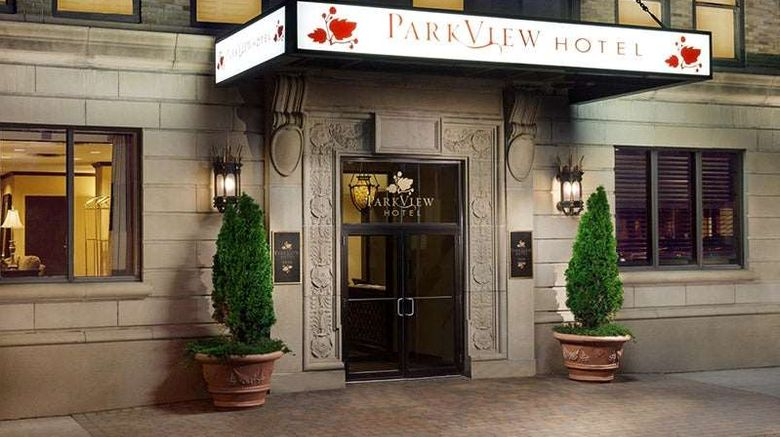 """Parkview Hotel Exterior. Images powered by <a href=""""http://web.iceportal.com"""" target=""""_blank"""" rel=""""noopener"""">Ice Portal</a>."""