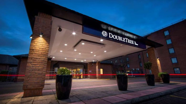 """<b>DoubleTree by Hilton Manchester Airport Exterior</b>. Images powered by <a href=""""https://iceportal.shijigroup.com/"""" title=""""IcePortal"""" target=""""_blank"""">IcePortal</a>."""