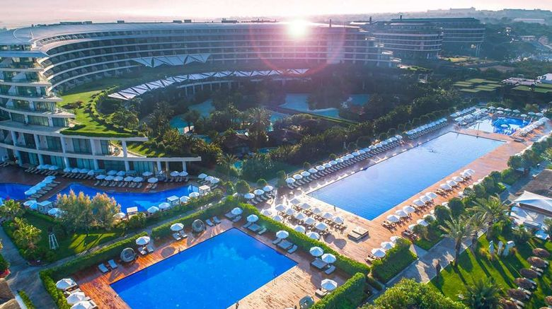 """Maxx Royal Belek Golf Resort Exterior. Images powered by <a href=""""http://web.iceportal.com"""" target=""""_blank"""" rel=""""noopener"""">Ice Portal</a>."""