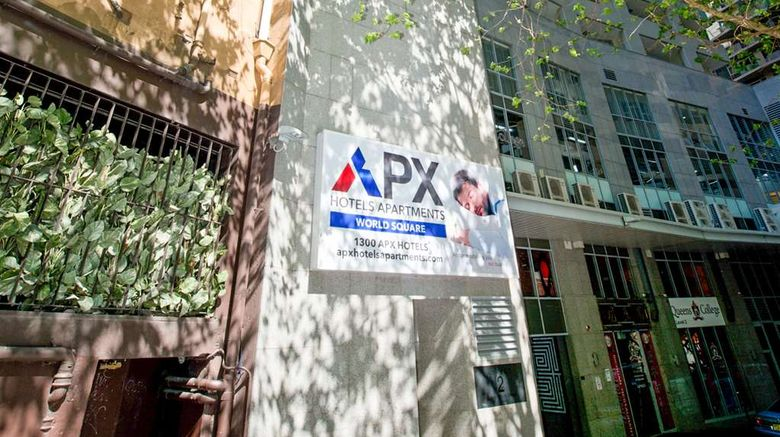 """APX Apartments World Square Sydney Exterior. Images powered by <a href=""""http://web.iceportal.com"""" target=""""_blank"""" rel=""""noopener"""">Ice Portal</a>."""