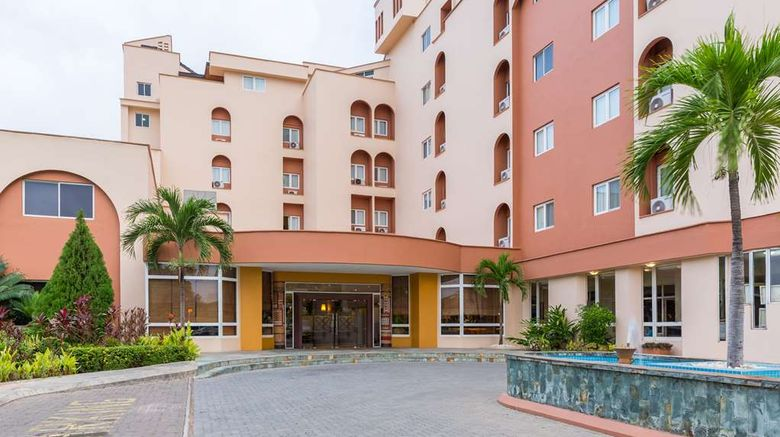 """African Regent Hotel Exterior. Images powered by <a href=""""http://web.iceportal.com"""" target=""""_blank"""" rel=""""noopener"""">Ice Portal</a>."""