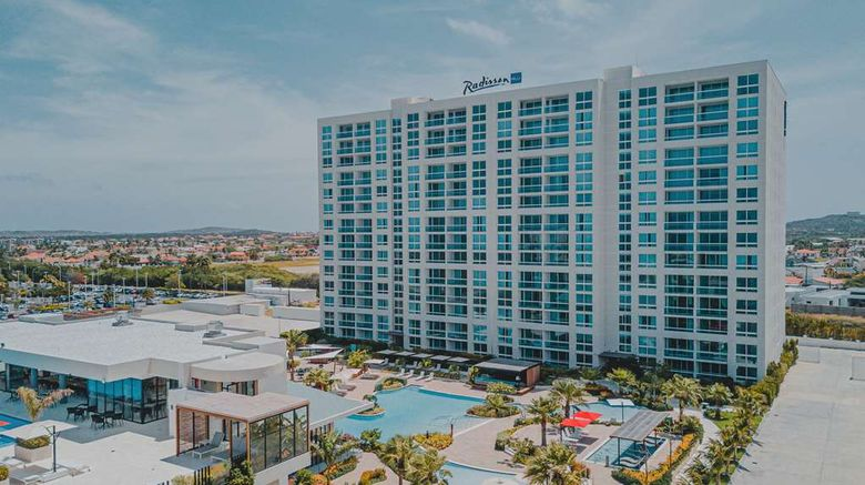 """Radisson Blu Aruba Exterior. Images powered by <a href=""""http://web.iceportal.com"""" target=""""_blank"""" rel=""""noopener"""">Ice Portal</a>."""