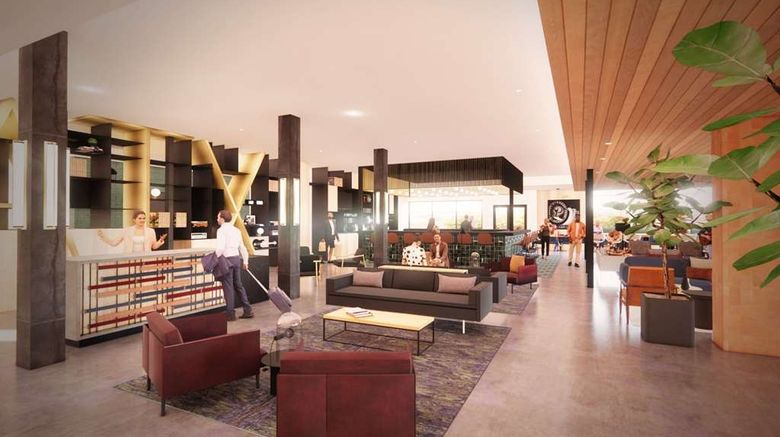 """Cambria Hotel Austin Airport Lobby. Images powered by <a href=""""http://web.iceportal.com"""" target=""""_blank"""" rel=""""noopener"""">Ice Portal</a>."""