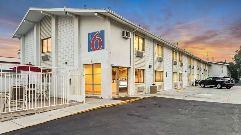 """Motel 6 Ogden Exterior. Images powered by <a href=""""http://web.iceportal.com"""" target=""""_blank"""" rel=""""noopener"""">Ice Portal</a>."""