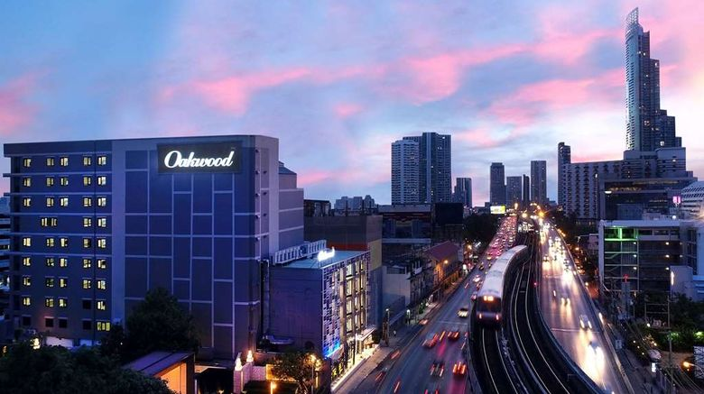 """Oakwood Hotel  and  Residence Bangkok Exterior. Images powered by <a href=""""http://web.iceportal.com"""" target=""""_blank"""" rel=""""noopener"""">Ice Portal</a>."""