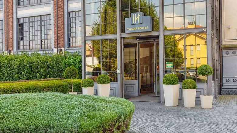 """Italiana Hotels Milan Rho Fair Exterior. Images powered by <a href=""""http://web.iceportal.com"""" target=""""_blank"""" rel=""""noopener"""">Ice Portal</a>."""