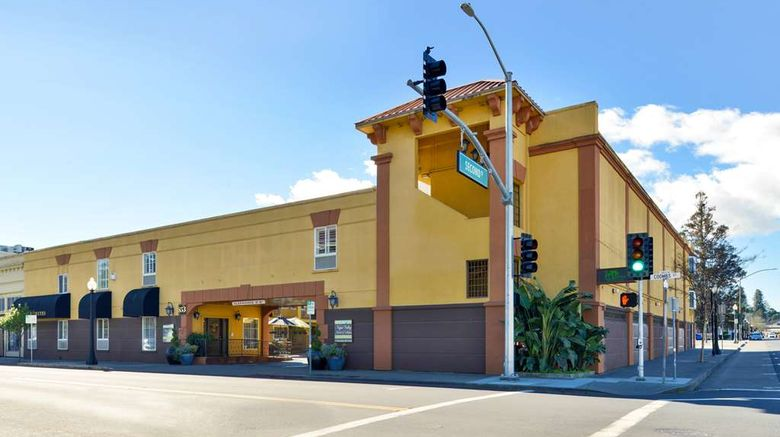 """Napa Valley Hotel  and  Suites Exterior. Images powered by <a href=""""http://web.iceportal.com"""" target=""""_blank"""" rel=""""noopener"""">Ice Portal</a>."""