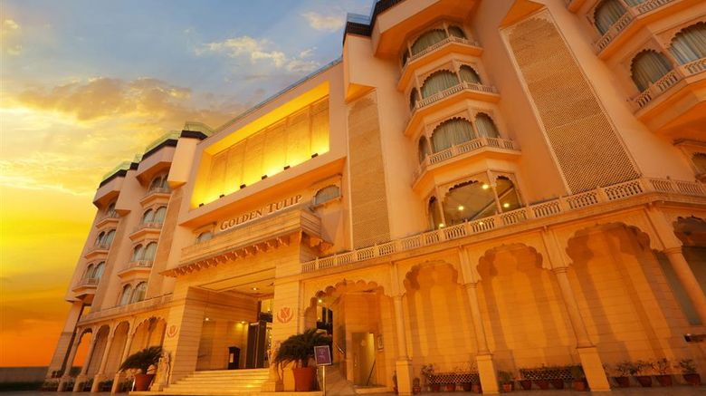"""Golden Tulip Hotel Jaipur Exterior. Images powered by <a href=""""http://web.iceportal.com"""" target=""""_blank"""" rel=""""noopener"""">Ice Portal</a>."""