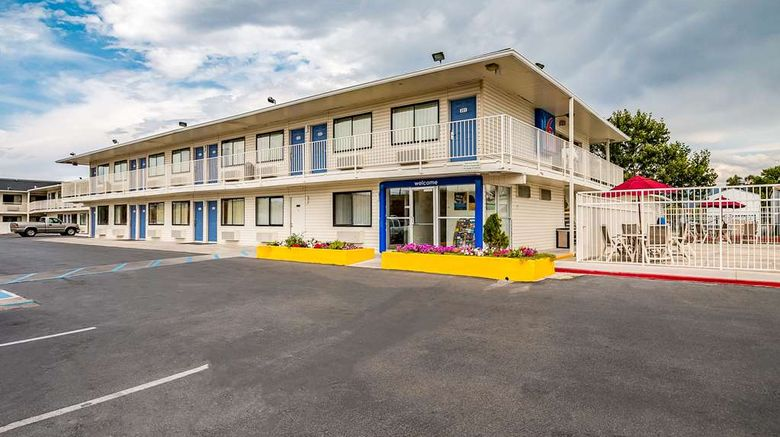 """Motel 6 Salt Lake City West Exterior. Images powered by <a href=""""http://web.iceportal.com"""" target=""""_blank"""" rel=""""noopener"""">Ice Portal</a>."""