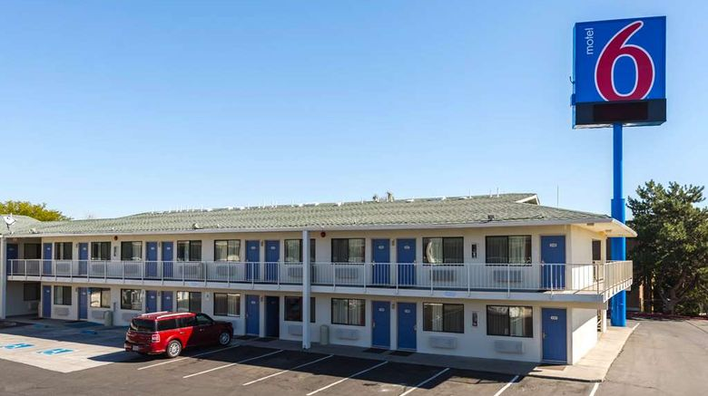 """Motel 6 Reno West Exterior. Images powered by <a href=""""http://web.iceportal.com"""" target=""""_blank"""" rel=""""noopener"""">Ice Portal</a>."""