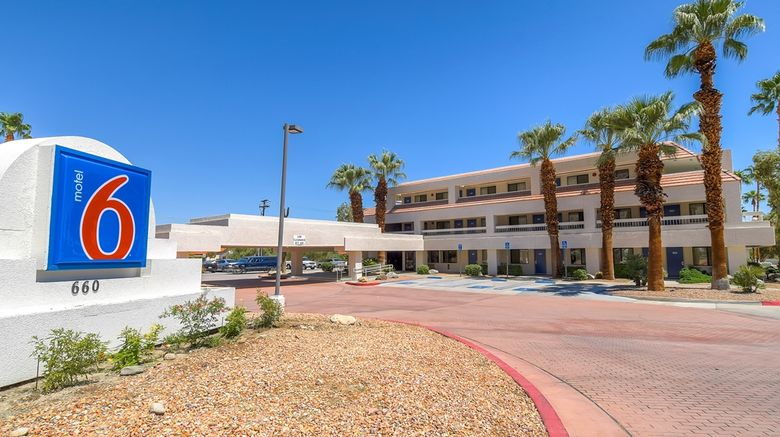 """Motel 6 Palm Springs Downtown Exterior. Images powered by <a href=""""http://web.iceportal.com"""" target=""""_blank"""" rel=""""noopener"""">Ice Portal</a>."""