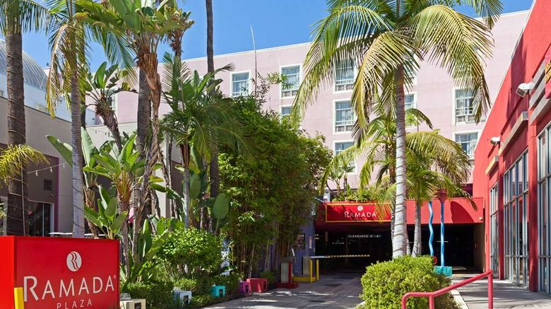 """Ramada Plaza West Hollywood Hotel/Suites Exterior. Images powered by <a href=""""http://web.iceportal.com"""" target=""""_blank"""" rel=""""noopener"""">Ice Portal</a>."""