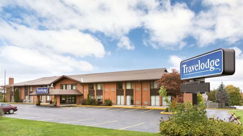 """Travelodge Owen Sound Exterior. Images powered by <a href=""""http://web.iceportal.com"""" target=""""_blank"""" rel=""""noopener"""">Ice Portal</a>."""