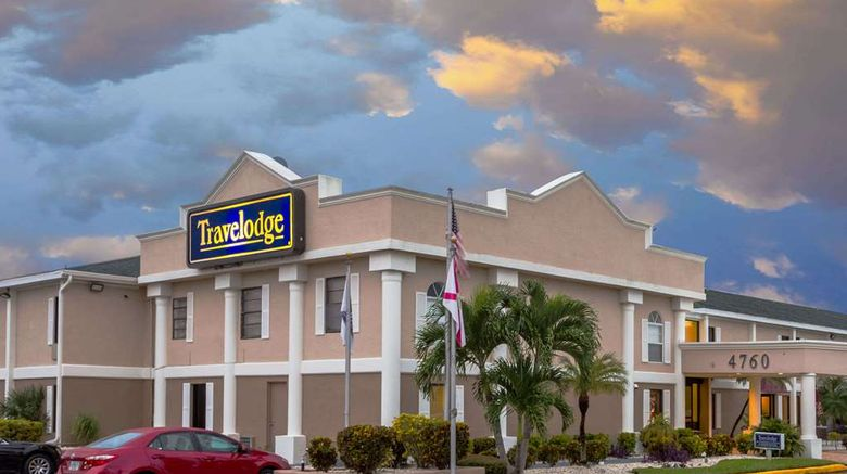 """Travelodge Fort Myers Exterior. Images powered by <a href=""""http://web.iceportal.com"""" target=""""_blank"""" rel=""""noopener"""">Ice Portal</a>."""
