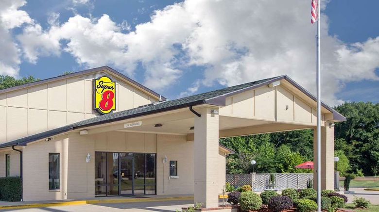 """Super 8 Clarksville Exterior. Images powered by <a href=""""http://web.iceportal.com"""" target=""""_blank"""" rel=""""noopener"""">Ice Portal</a>."""
