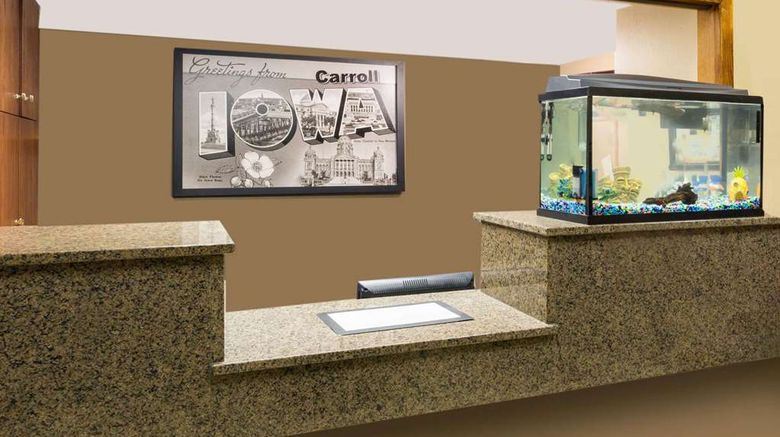 """<b>Super 8 Carroll Lobby</b>. Images powered by <a href=""""https://iceportal.shijigroup.com/"""" title=""""IcePortal"""" target=""""_blank"""">IcePortal</a>."""