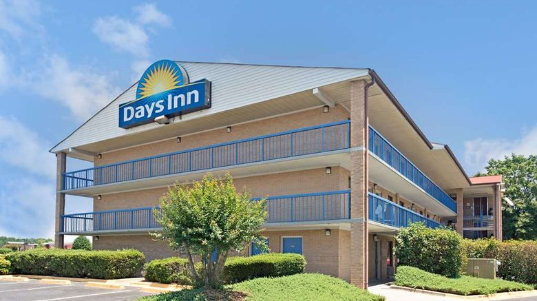 """Days Inn Charlotte Northlake Exterior. Images powered by <a href=""""http://web.iceportal.com"""" target=""""_blank"""" rel=""""noopener"""">Ice Portal</a>."""