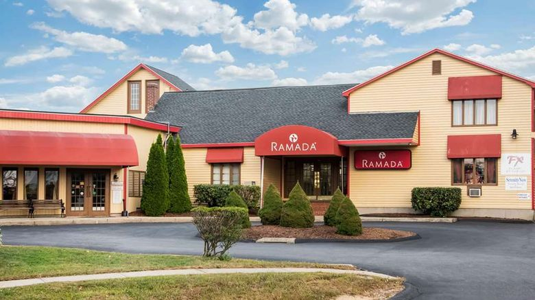"""Ramada by Wyndham Groton Exterior. Images powered by <a href=""""http://web.iceportal.com"""" target=""""_blank"""" rel=""""noopener"""">Ice Portal</a>."""