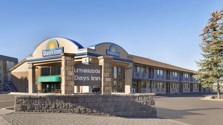 """Days Inn Lethbridge Exterior. Images powered by <a href=""""http://web.iceportal.com"""" target=""""_blank"""" rel=""""noopener"""">Ice Portal</a>."""