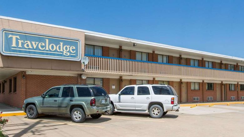 """Great Bend Travelodge Exterior. Images powered by <a href=""""http://web.iceportal.com"""" target=""""_blank"""" rel=""""noopener"""">Ice Portal</a>."""