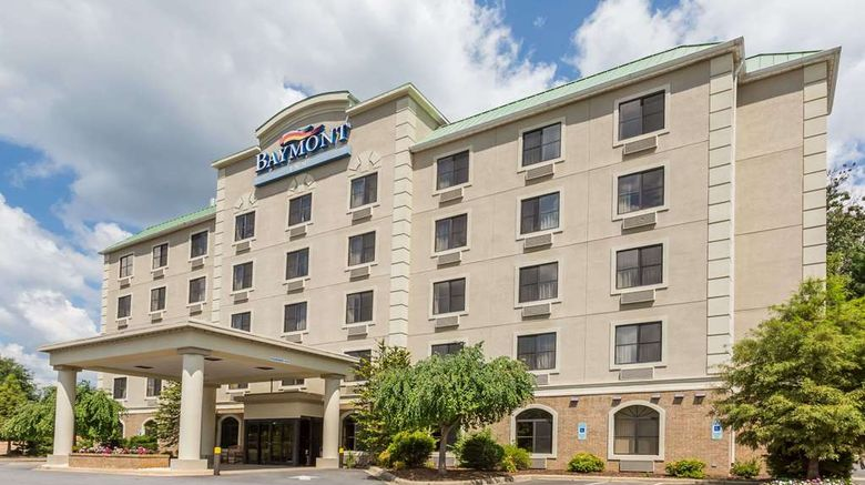 """Baymont Inn  and  Suites Asheville/Biltmore Exterior. Images powered by <a href=""""http://web.iceportal.com"""" target=""""_blank"""" rel=""""noopener"""">Ice Portal</a>."""
