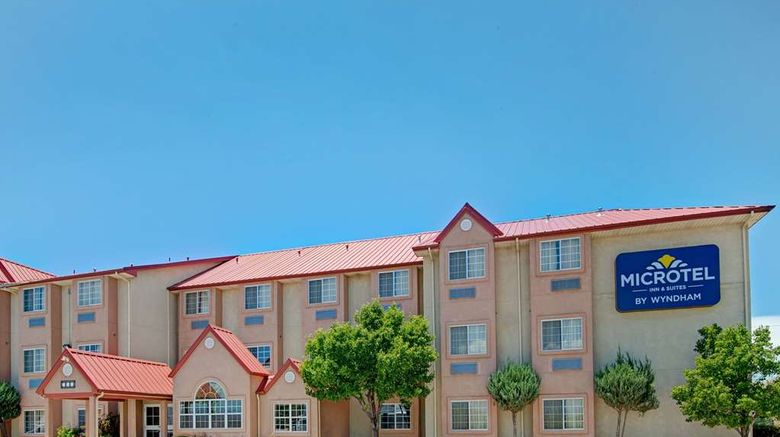 """Microtel Inn  and  Suites Albuquerque West Exterior. Images powered by <a href=""""http://web.iceportal.com"""" target=""""_blank"""" rel=""""noopener"""">Ice Portal</a>."""