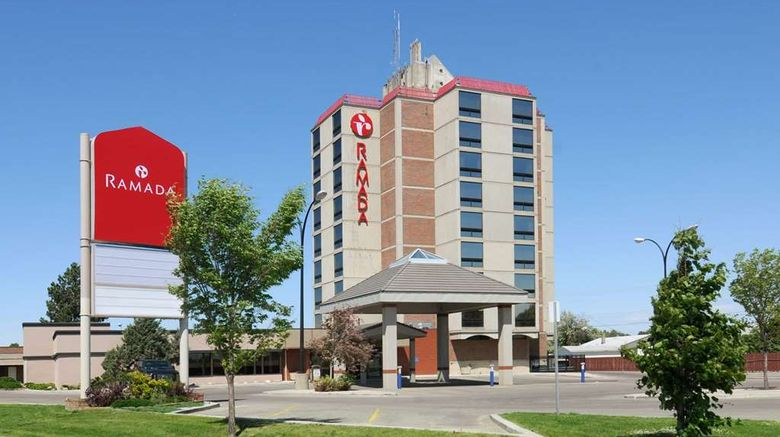 """Ramada Lethbridge Exterior. Images powered by <a href=""""http://web.iceportal.com"""" target=""""_blank"""" rel=""""noopener"""">Ice Portal</a>."""