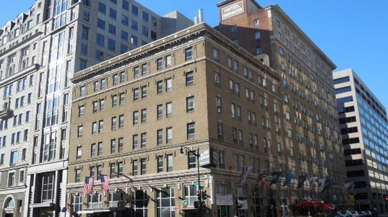 """Harrington Hotel Exterior. Images powered by <a href=""""http://web.iceportal.com"""" target=""""_blank"""" rel=""""noopener"""">Ice Portal</a>."""