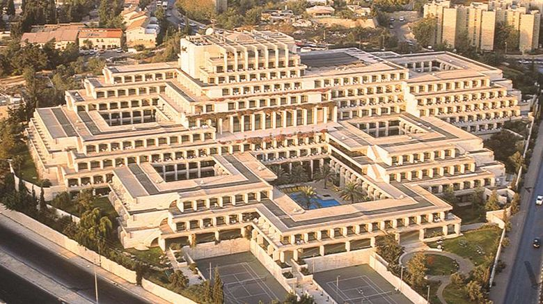 """Dan Jerusalem Hotel Exterior. Images powered by <a href=""""http://web.iceportal.com"""" target=""""_blank"""" rel=""""noopener"""">Ice Portal</a>."""