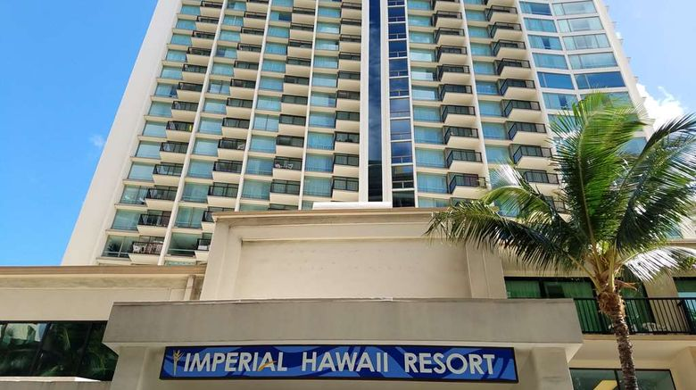 """The Imperial Hawaii Resort at Waikiki Exterior. Images powered by <a href=""""http://web.iceportal.com"""" target=""""_blank"""" rel=""""noopener"""">Ice Portal</a>."""