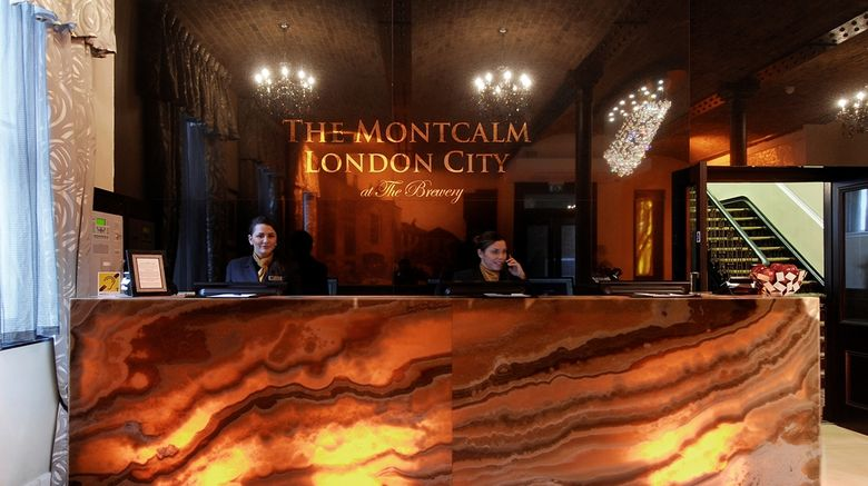 """The Montcalm at The Brewery London City Lobby. Images powered by <a href=""""http://web.iceportal.com"""" target=""""_blank"""" rel=""""noopener"""">Ice Portal</a>."""