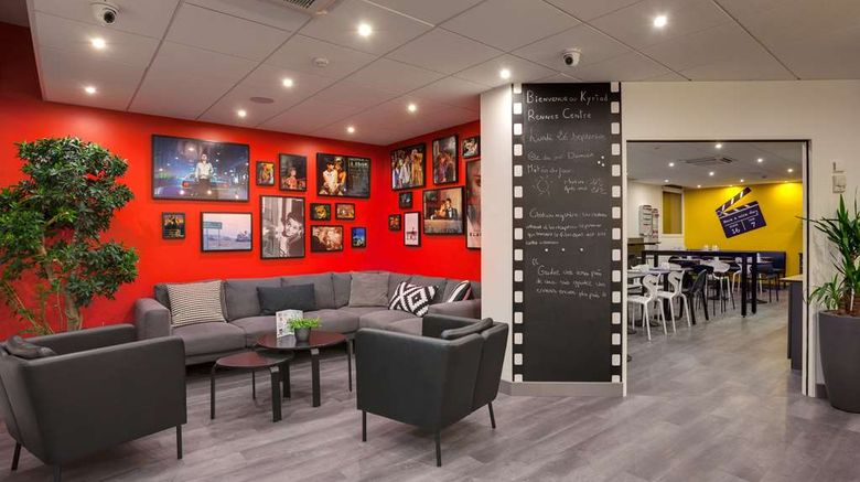"""Kyriad Rennes Centre Lobby. Images powered by <a href=""""http://web.iceportal.com"""" target=""""_blank"""" rel=""""noopener"""">Ice Portal</a>."""