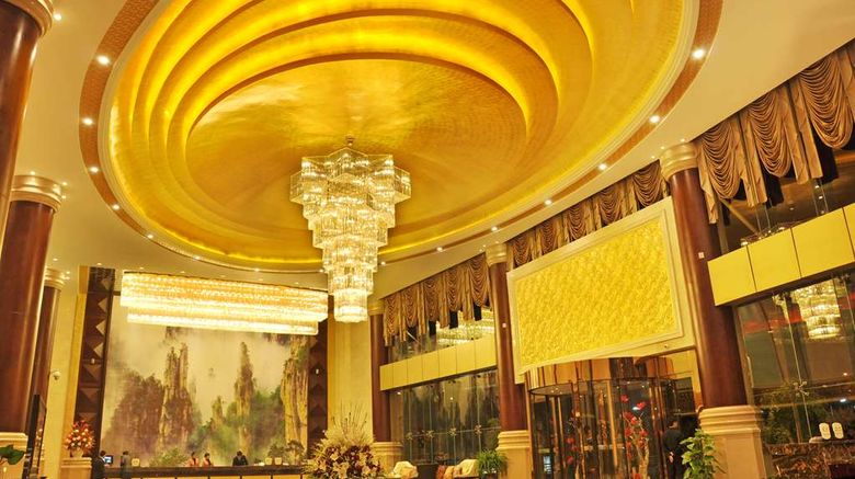 """Grand Hotel Zhangjiajie Lobby. Images powered by <a href=""""http://web.iceportal.com"""" target=""""_blank"""" rel=""""noopener"""">Ice Portal</a>."""