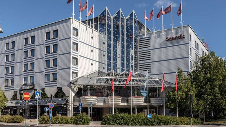 """Scandic Hotel Jyvaskyla Exterior. Images powered by <a href=""""http://web.iceportal.com"""" target=""""_blank"""" rel=""""noopener"""">Ice Portal</a>."""