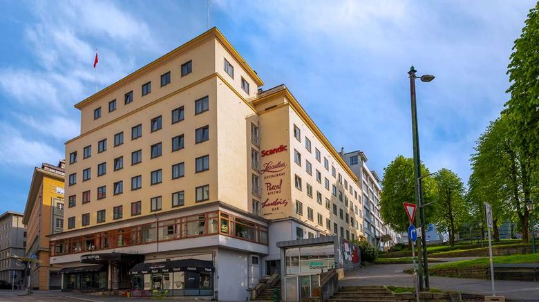 """Scandic Neptun Hotel Exterior. Images powered by <a href=""""http://web.iceportal.com"""" target=""""_blank"""" rel=""""noopener"""">Ice Portal</a>."""