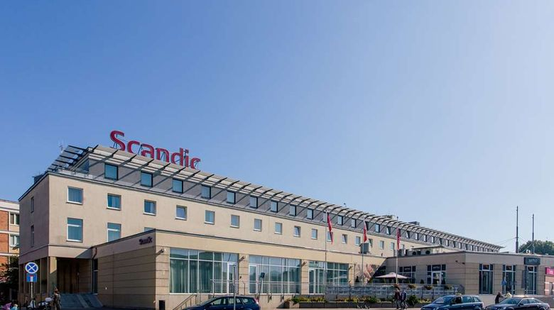 """Scandic Gdansk Exterior. Images powered by <a href=""""http://web.iceportal.com"""" target=""""_blank"""" rel=""""noopener"""">Ice Portal</a>."""