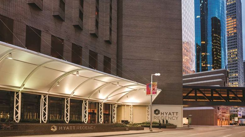 """<b>Hyatt Regency Houston Exterior</b>. Images powered by <a href=""""https://iceportal.shijigroup.com/"""" title=""""IcePortal"""" target=""""_blank"""">IcePortal</a>."""