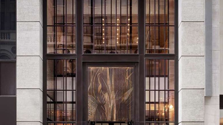 """ANdAZ 5th Avenue Exterior. Images powered by <a href=""""http://web.iceportal.com"""" target=""""_blank"""" rel=""""noopener"""">Ice Portal</a>."""