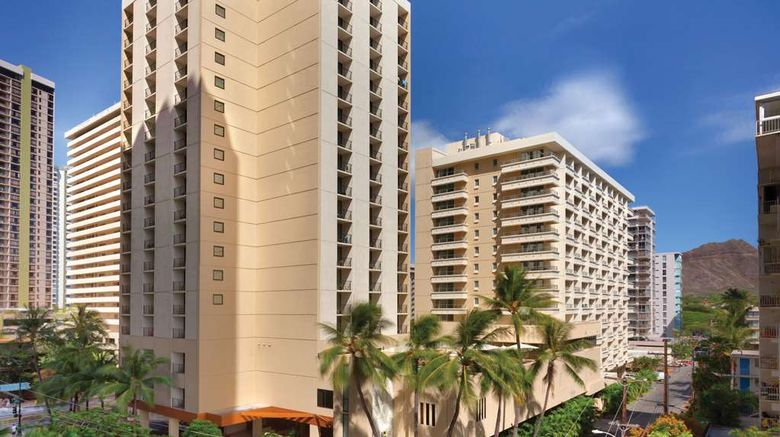 """Hyatt Place Waikiki Beach Exterior. Images powered by <a href=""""http://web.iceportal.com"""" target=""""_blank"""" rel=""""noopener"""">Ice Portal</a>."""