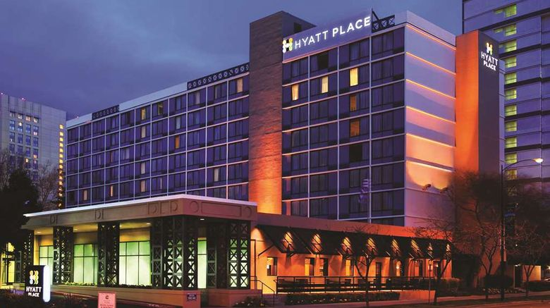 """Hyatt Place San Jose/Downtown Exterior. Images powered by <a href=""""http://web.iceportal.com"""" target=""""_blank"""" rel=""""noopener"""">Ice Portal</a>."""