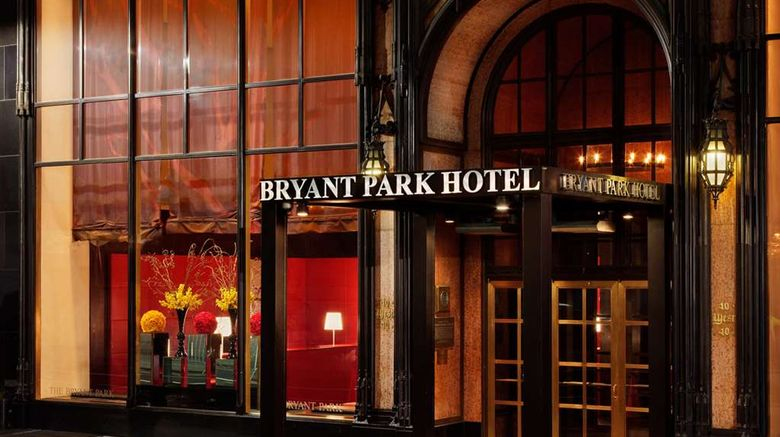 """The Bryant Park Hotel Exterior. Images powered by <a href=""""http://web.iceportal.com"""" target=""""_blank"""" rel=""""noopener"""">Ice Portal</a>."""