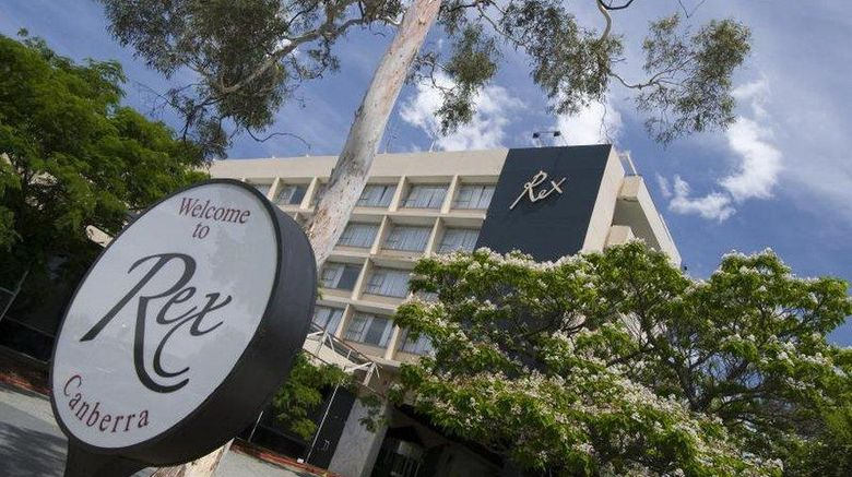 """Canberra Rex Hotel Exterior. Images powered by <a href=""""http://web.iceportal.com"""" target=""""_blank"""" rel=""""noopener"""">Ice Portal</a>."""