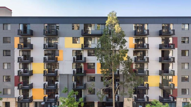 """Mont Clare Boutique Apartments Exterior. Images powered by <a href=""""http://web.iceportal.com"""" target=""""_blank"""" rel=""""noopener"""">Ice Portal</a>."""