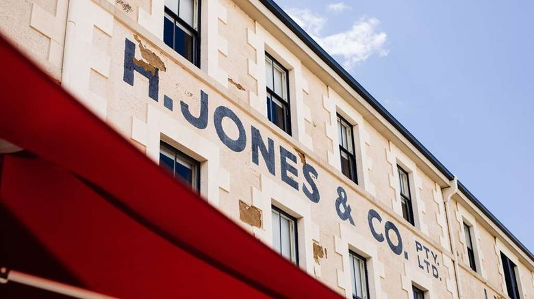 """The Henry Jones Art Hotel Exterior. Images powered by <a href=""""http://web.iceportal.com"""" target=""""_blank"""" rel=""""noopener"""">Ice Portal</a>."""