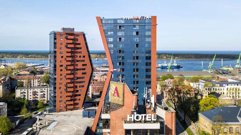 """Hotel Amberton Klaipeda Exterior. Images powered by <a href=""""http://web.iceportal.com"""" target=""""_blank"""" rel=""""noopener"""">Ice Portal</a>."""
